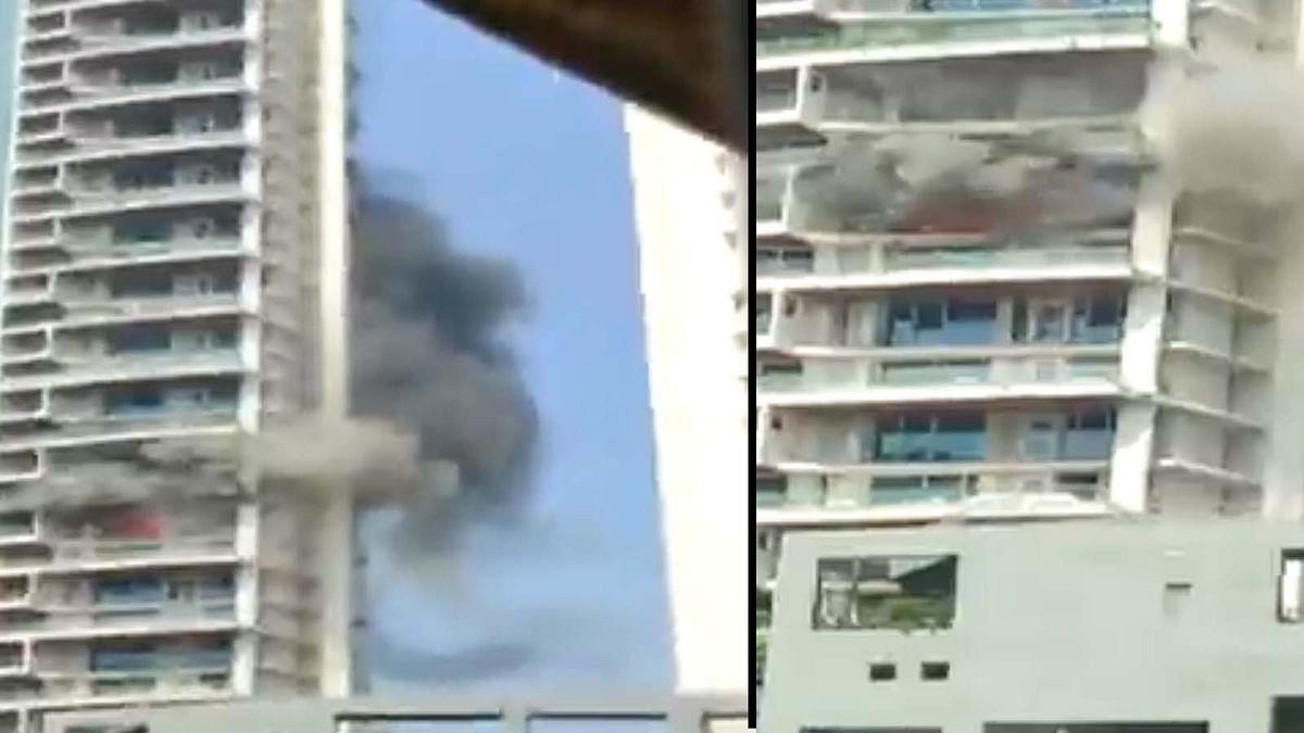 मुंबई में करी रोड स्थित बहुमंजिला अविघ्ना पार्क अपार्टमेंट में लगी भीषण आग