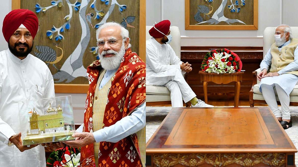 पंजाब के CM चरणजीत सिंह चन्नी की PM नरेंद्र मोदी से मुलाकात