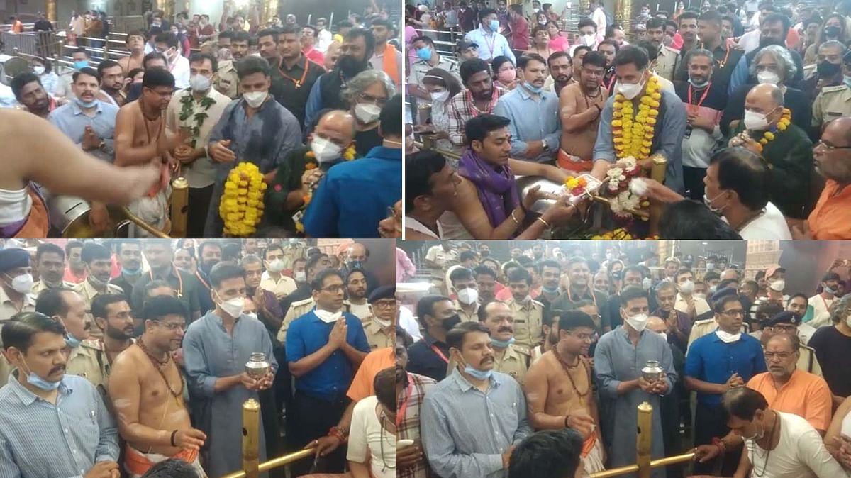 महाकाल मंदिर पहुंचे अक्षय कुमार, मंदिर परिसर में चल रही है फिल्म 'OMG 2' शूटिंग