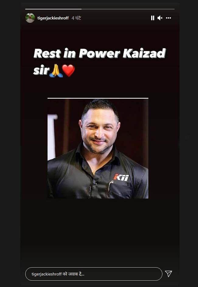 Tiger Shroff fitness trainer Kaizad passed away