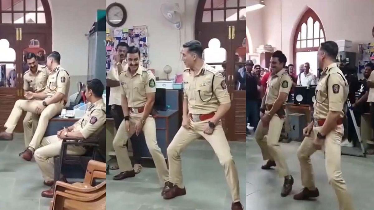 'बाला' डांस करते हुए रणवीर ने गलत जगह मारा हाथ, अक्षय ने वीडियो शेयर किया वीडियो
