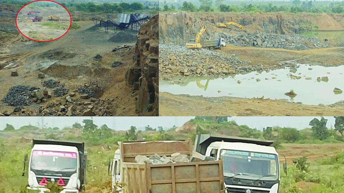 पातालफोड़ खुदाई : पत्थर खदान में खनन के दौरान हो रहा अधिनियम का उल्लंघन
