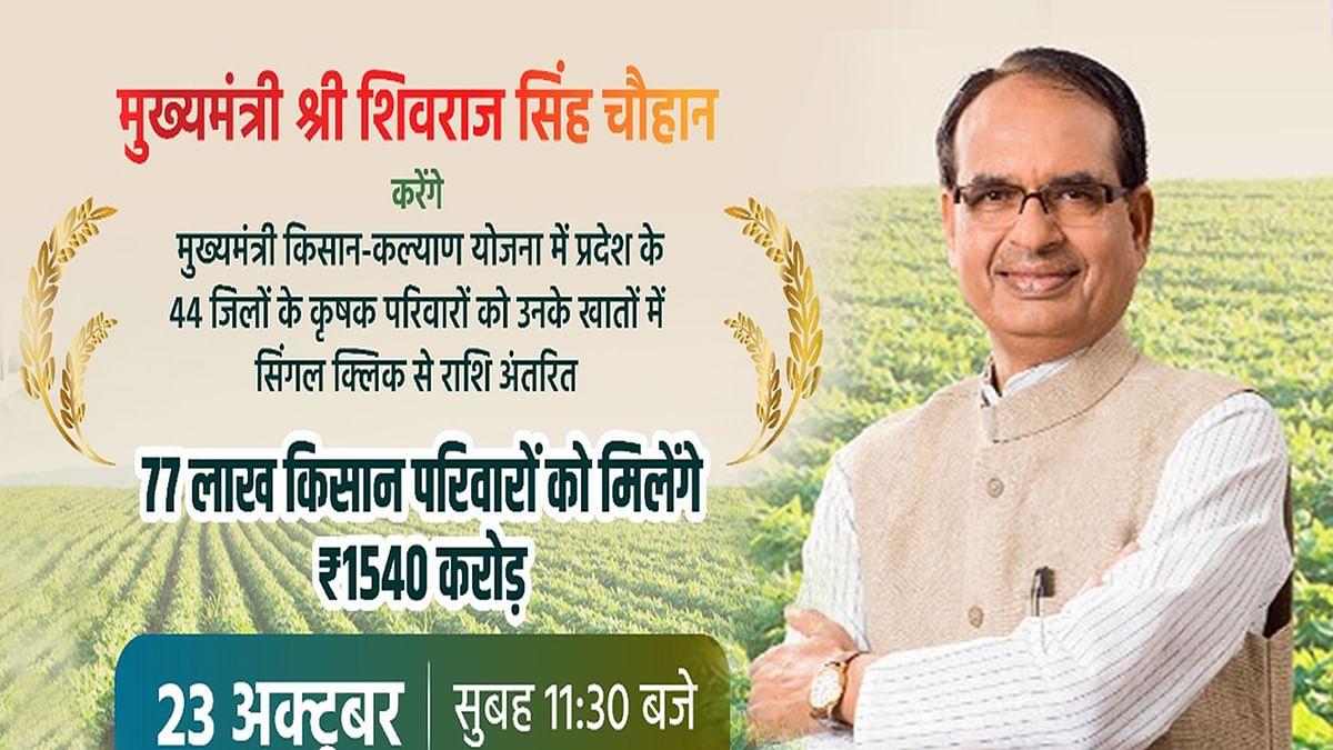 कल MP के 44 जिलों के किसानों के खातों में CM अंतरित करेंगे किसान सम्मान निधि की राशि