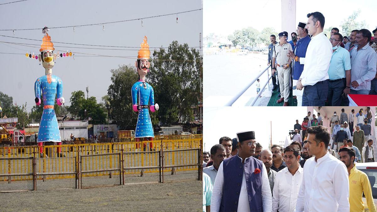 सारंग ने करोंद, छोला मैदान का निरीक्षण कर दशहरा महोत्सव की तैयारियों का लिया जायजा