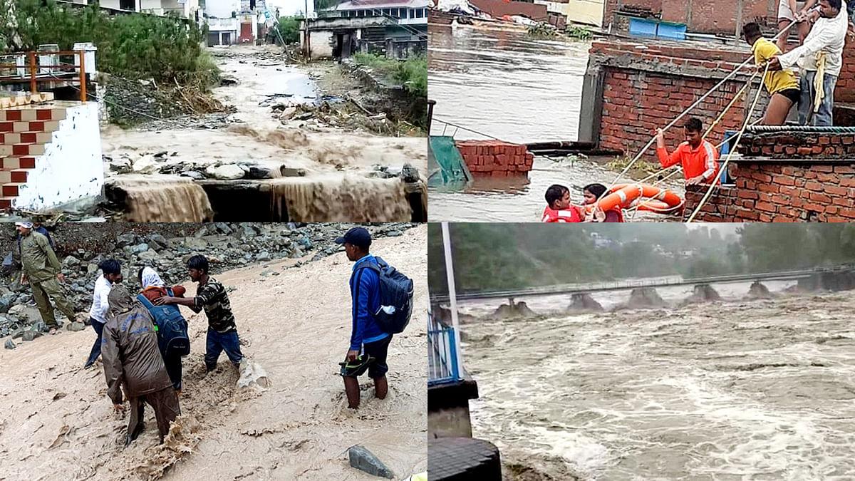 उत्तराखंड में बाढ़-बारिश से त्राहि, बाढ़ प्रभावित इलाकों का शाह करेंगे हवाई सर्वे