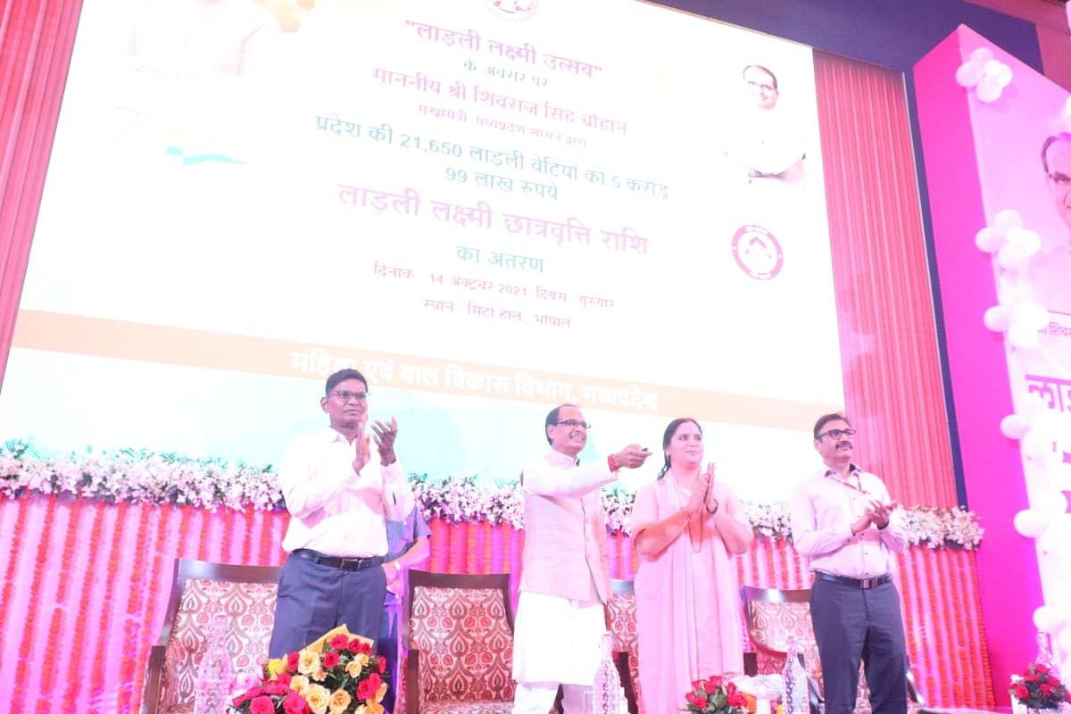 लाड़ली लक्ष्मी उत्सव कार्यक्रम: CM शिवराज ने लाड़लियों के खाते में ट्रांसफर की राशि