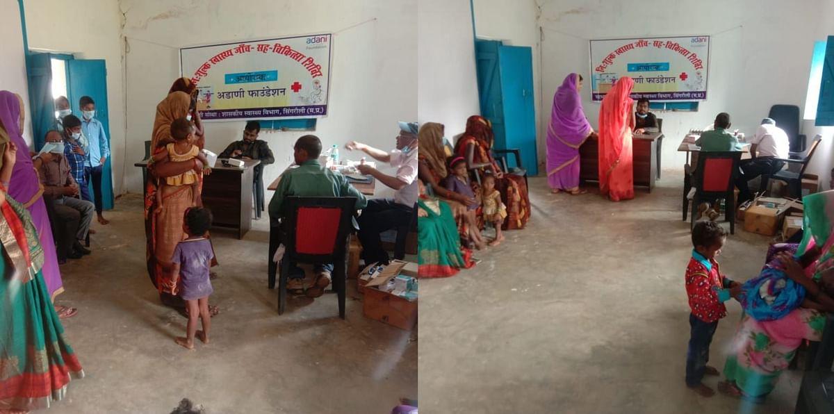 Singrauli : निःशुल्क चिकित्सा शिविर में सैकड़ों ग्रामीणों ने उठाया स्वास्थ्य लाभ