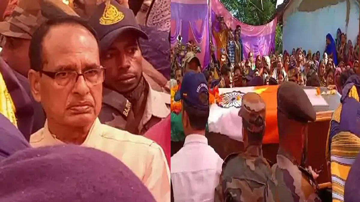 शहीद कर्णवीर को देख भावुक हुए सीएम, परिजनों को 1 करोड़ और भाई को नौकरी देने का ऐलान