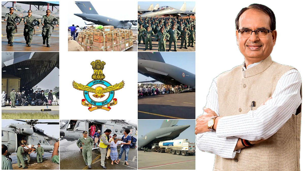 भारतीय वायुसेना दिवस पर CM शिवराज ने समस्त वायु सैनिकों को दी शुभकामनाएं