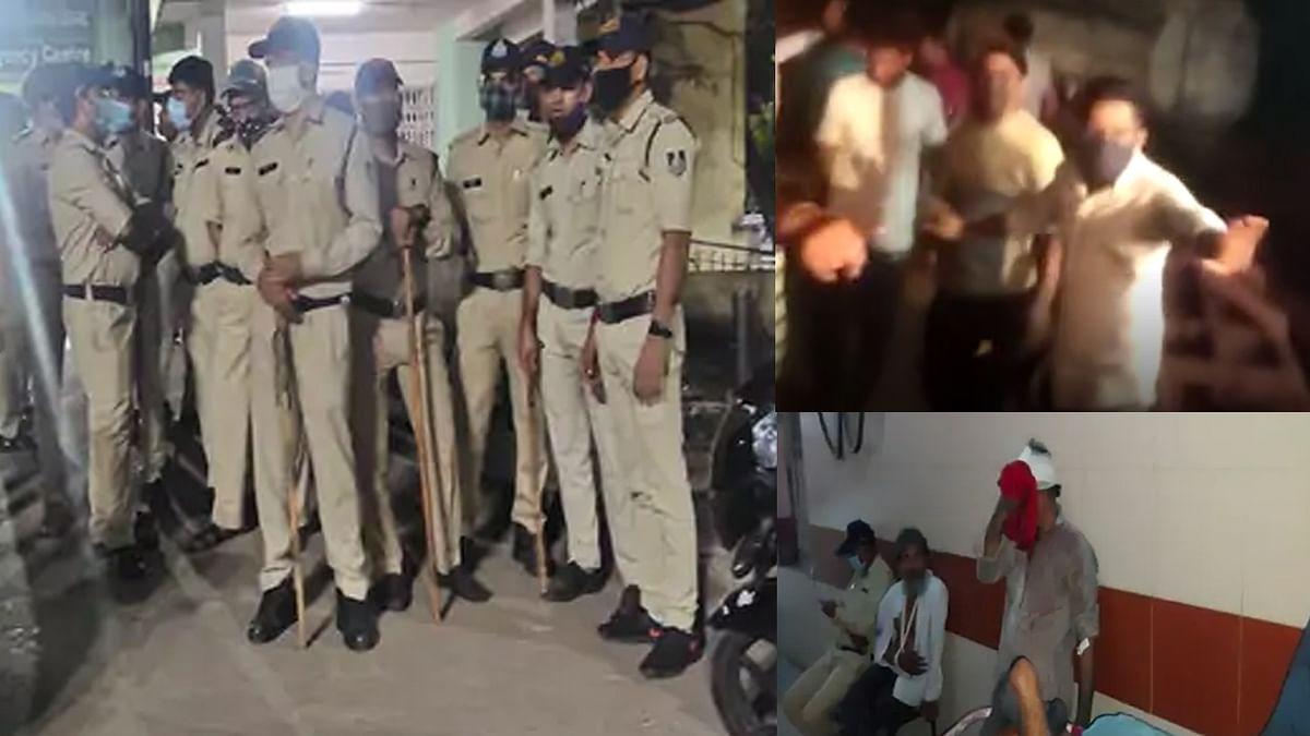 दो पक्षों में हुई मारपीट में कई लोग घायल, तनाव को देखते हुए पुलिस छावनी में बदला गांव
