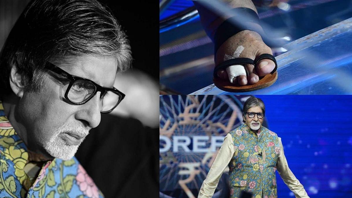 KBC 13: Amitabh Bachchan Injured his Toe