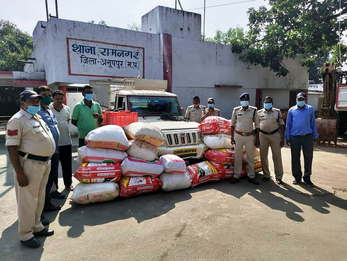 Anuppur : एक बार फिर 50 लाख का गांजा जब्त