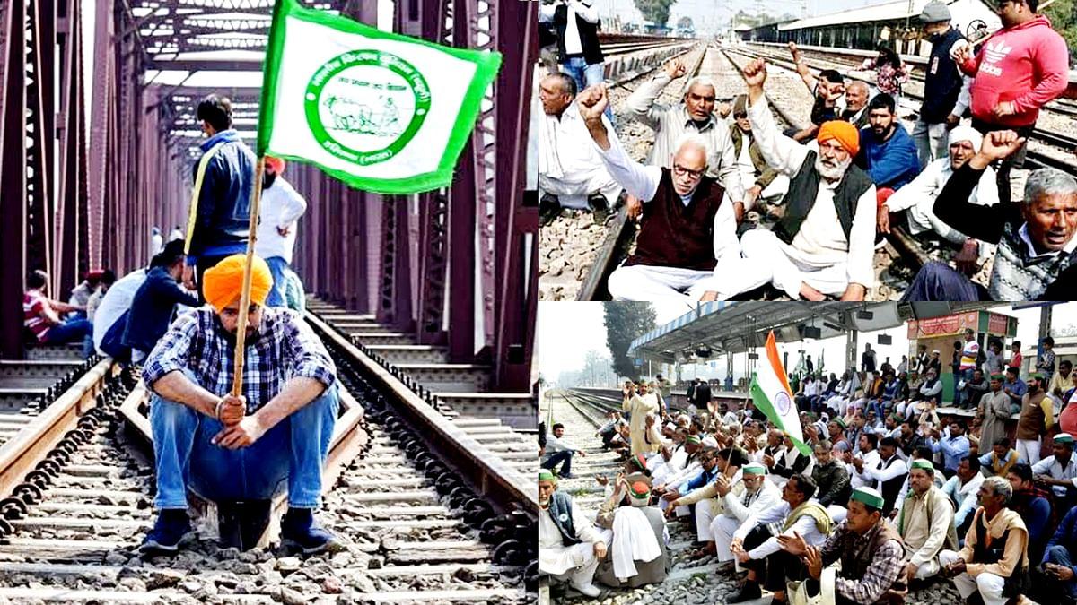 किसान संघ का आज राष्ट्रव्यापी 'रेल रोको' आंदोलन- शाम तक किसान रोकेंगे ट्रेनें