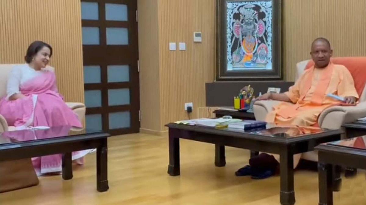 मुख्यमंत्री योगी आदित्यनाथ से मिलीं कंगना रनौत, शेयर की तस्वीरें