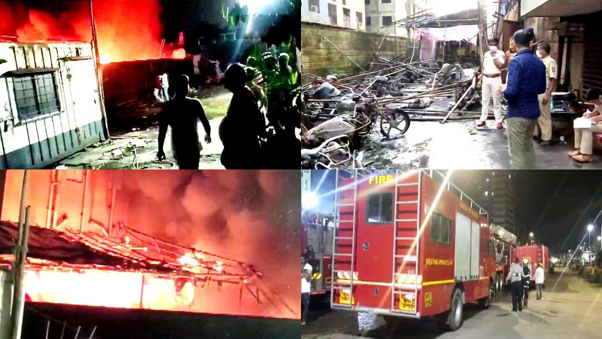 मुंबई के कुर्ला में भीषण आग- कई मोटरसाइकिलें जलकर खाक