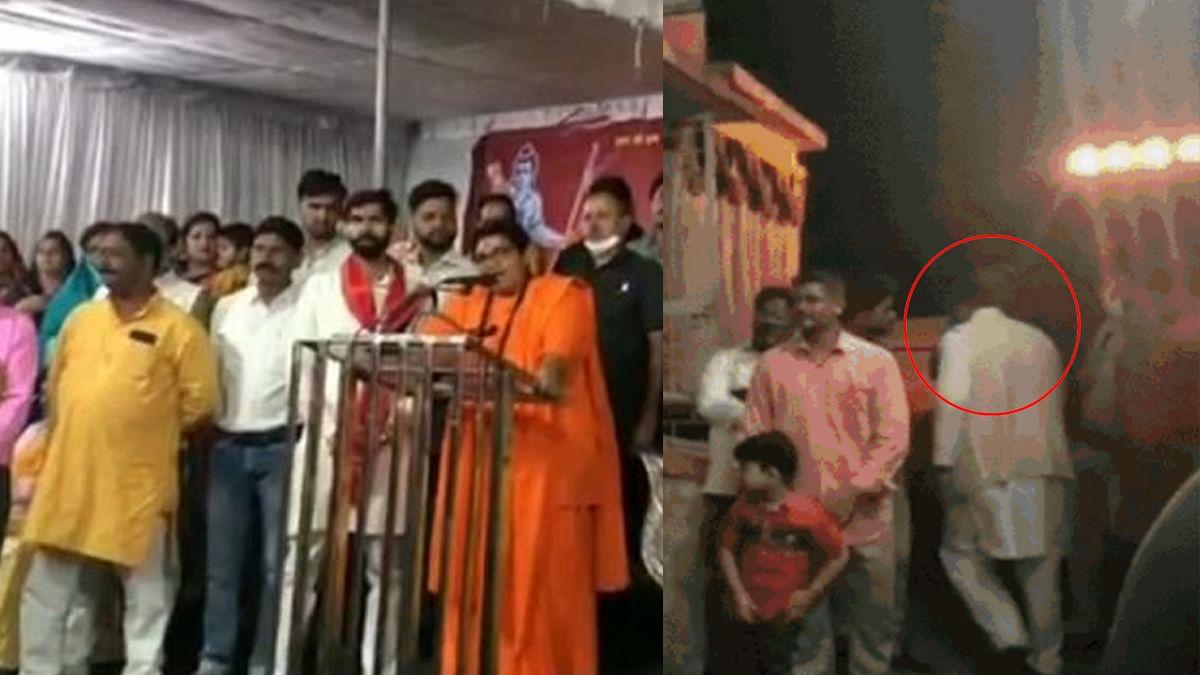प्रज्ञा ठाकुर के भाषण से नाराज पीसी शर्मा ने बीच में ही छोड़ दिया रावण दहन कार्यक्रम