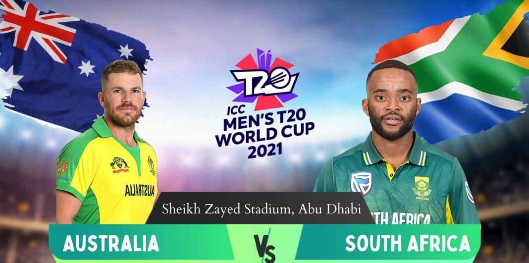 टी-20 विश्व कप में ऑस्ट्रेलिया की विजयी शुरुआत दक्षिण अफ्रीका को पांच विकेट से हराया