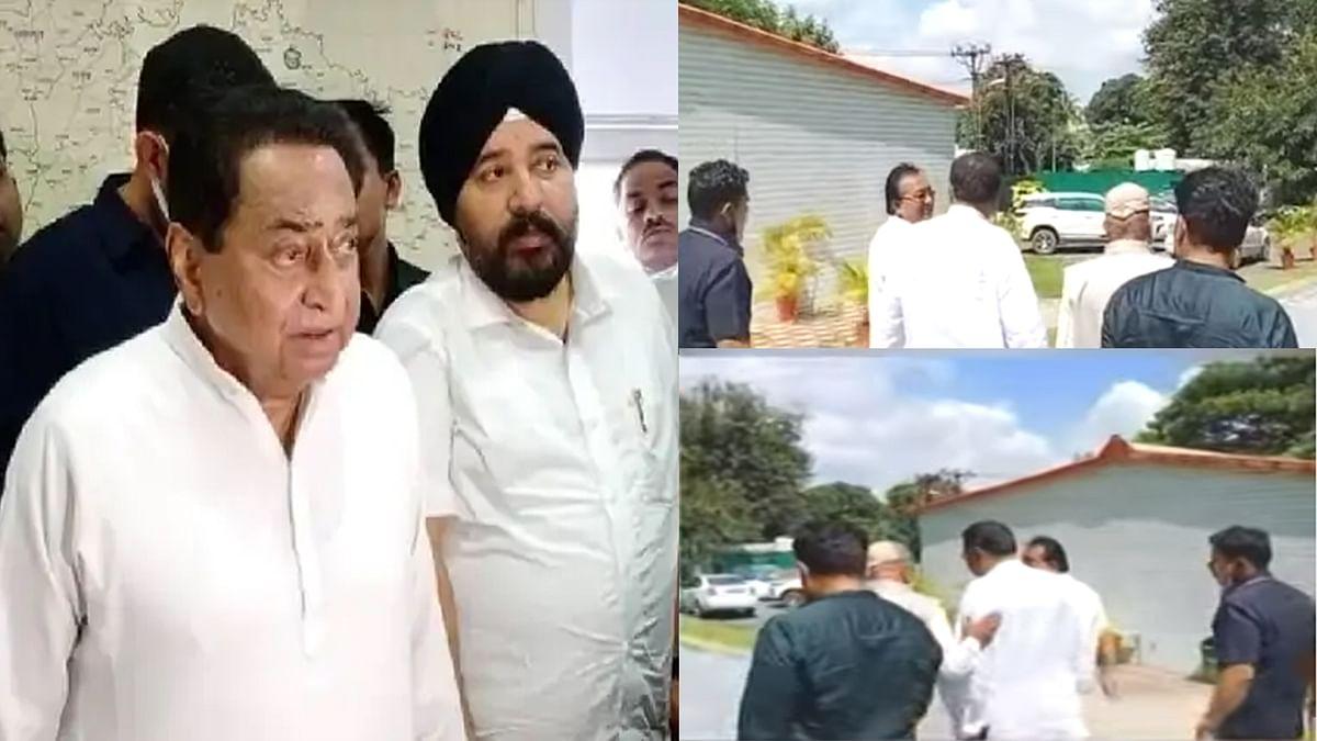 उपचुनावों को लेकर बैठक: पूर्व CM कमलनाथ के बंगले पर हो रही बैठक में कई नेता मौजूद