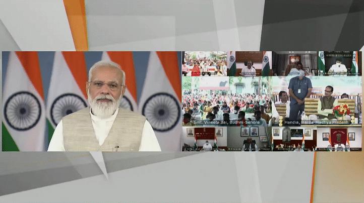 MP को PM मोदी ने बताया गजब- स्वामित्व योजना के लाभार्थियों संग PM का संवाद