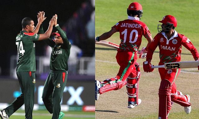 बंगलादेश ने ओमान की दी 154 की चुनौती