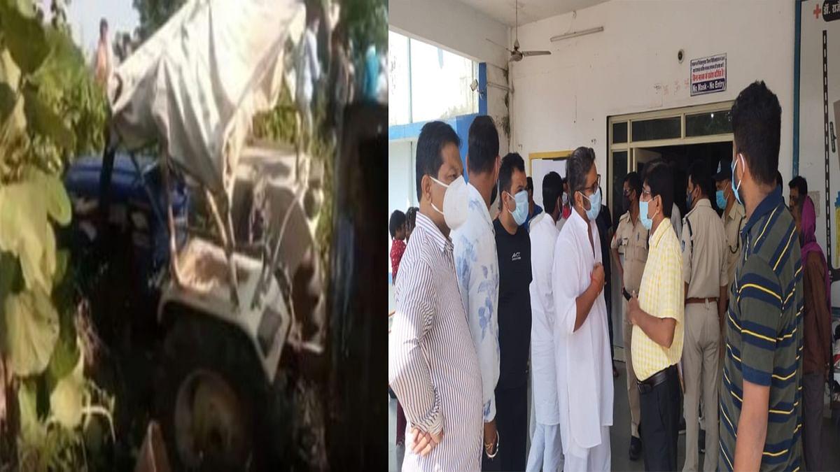 टीकमगढ़ में हुआ हादसा: श्रद्धालुओं से भरी ट्रैक्टर ट्रॉली पलटने से 1 की मौत, कई घायल