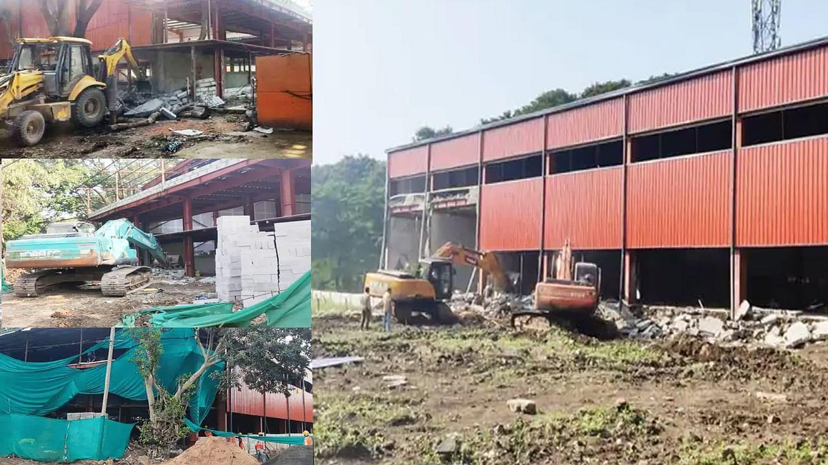 आज इंदौर में बड़ी कार्रवाई, नगर निगम ने अवैध निर्माण को किया ध्वस्त