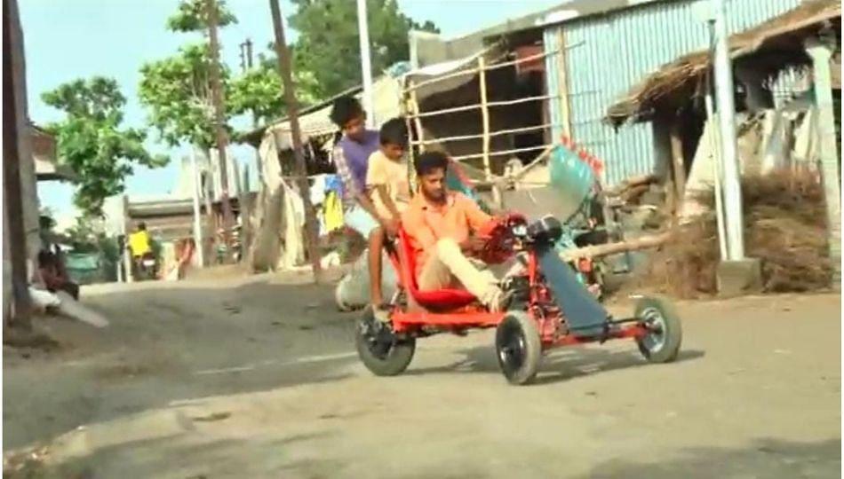 युवकाचा देशी जुगाड..कार धावते एक रूपयात ५० किमी