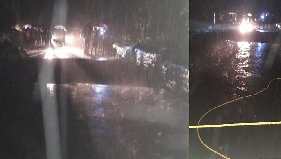 मुरुड येथील काशीद पूल कोसळला; वाहतूक विस्कळीत