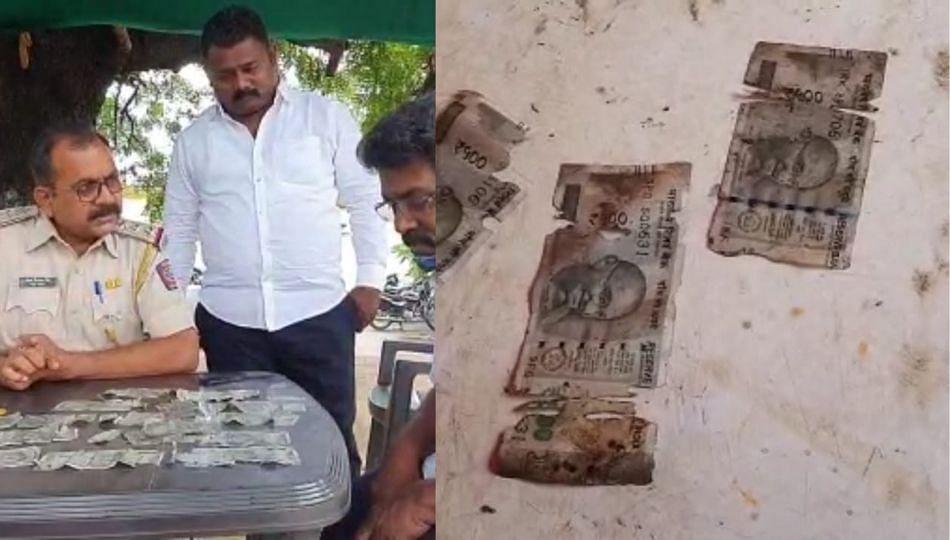 बाब्बो! नाल्यात वाहू लागल्या 500 रुपयाच्या नोटा; लोकं झाली मालामाल