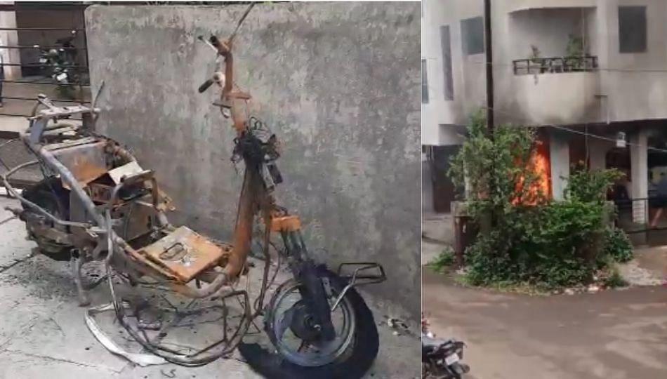 चार्जिंगला लावलेली इलेक्ट्रिक बाईक जळून खाक !