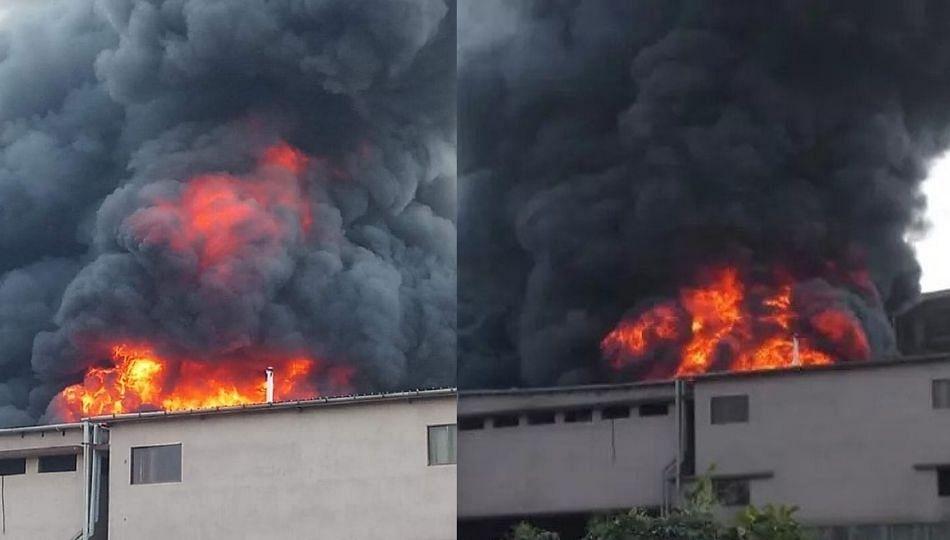 डोंबिवली स्थानकाजवळील इमारतीला भीषण आग...(पहा व्हिडिओ)