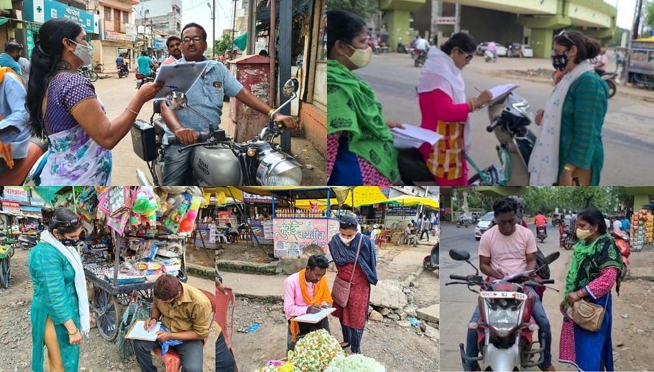 चंद्रपुरात महागाईविरुद्ध महिला काँग्रेसचे स्वाक्षरी अभियान