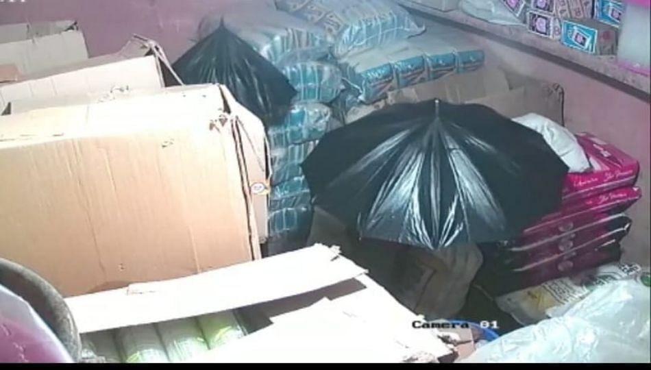 चोरट्यांनी लढवली अनोखी शक्कल ! CCTV मध्ये दिसू नये म्हणून छत्रीचा वापर