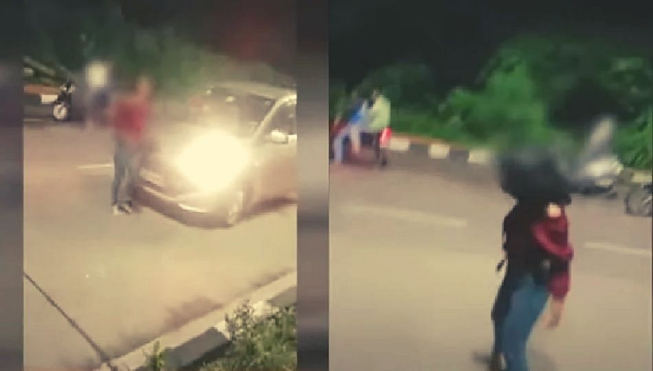 Viral Video : अंबरनाथमध्ये मद्यधुंद तरुणीचा भररस्त्यात धिंगाणा