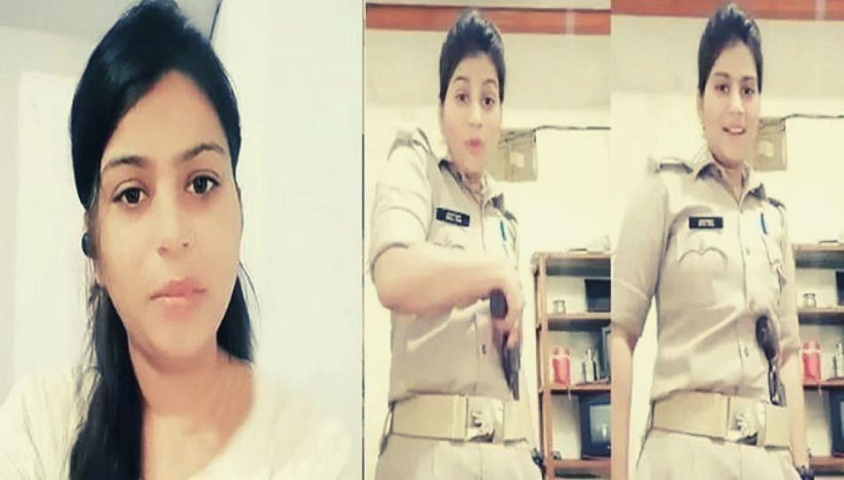'रिव्हॉल्व्हर' फिरवत रिल्स करणं पडलं महागात; अखेर 'त्या' महिला पोलिसाचा राजीनामा मंजूर
