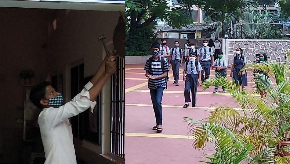 अलिबागसह जिल्ह्यात शाळेची घंटा वाजली; दीड वर्षानंतर शाळेत किलबिलाट
