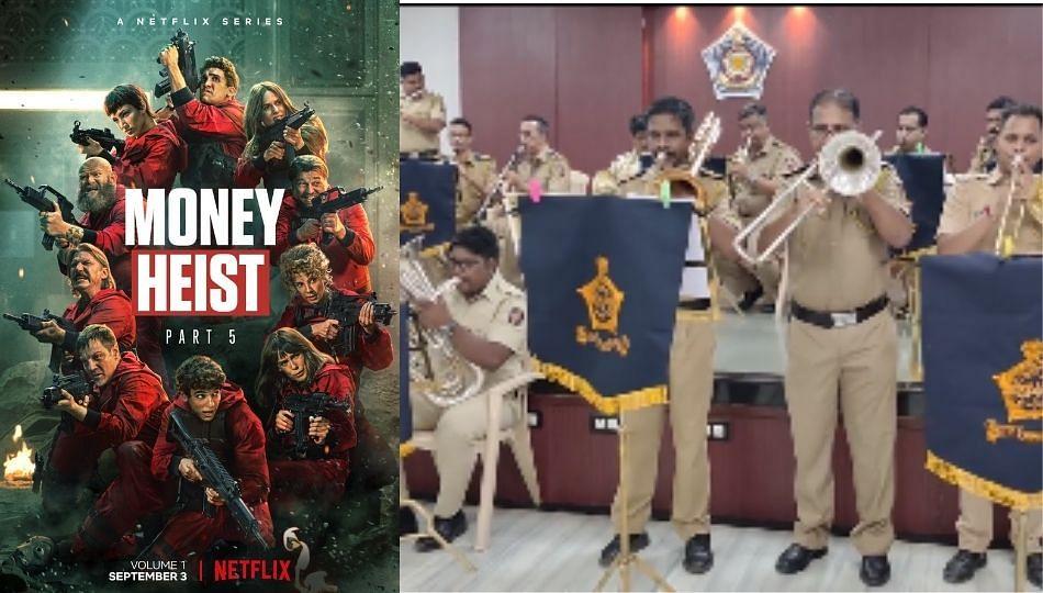 मुंबई पोलिसही Money Heist चे फॅन, Bella Ciao गाण्यावर वाजवला बँड