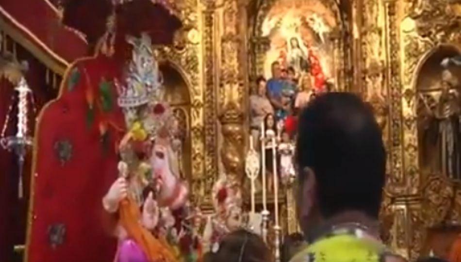 जेंव्हा गणपती बाप्पा स्पेनमध्ये येशू ख्रिस्तांना भेटतात (पहा व्हिडिओ)