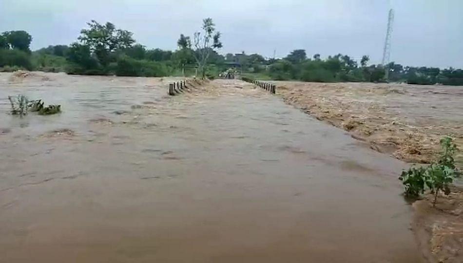 जामनेर तालुक्यात अतिवृष्टी; अनेक गावांमध्ये शिरले पाणी