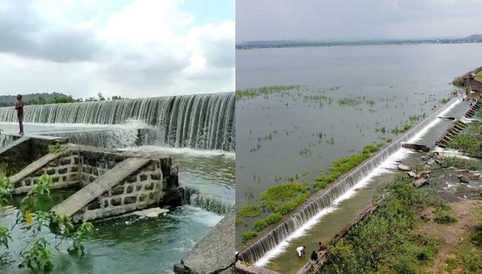 जालन्यातील पाणी प्रकल्प ओव्हरफ्लो, शहरासह परिसरातील गावांचा पाण्याचा प्रश्न मिटला