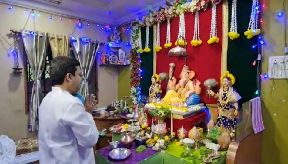 Ganeshotsav 2021: जालण्यात राजेश टोपे यांच्या घरीही बाप्पाचं आगमन