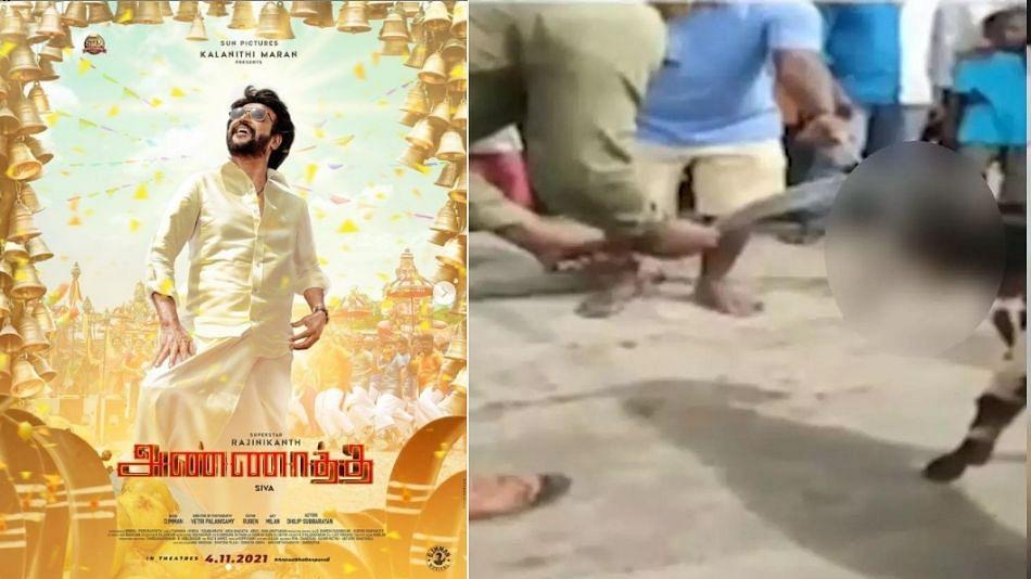 क्रुरतेचा कळस! रजनीकांतच्या फिल्मच्या पोस्टरवर चाहत्यांनी चक्क शिंपडले बकरीचे रक्त!
