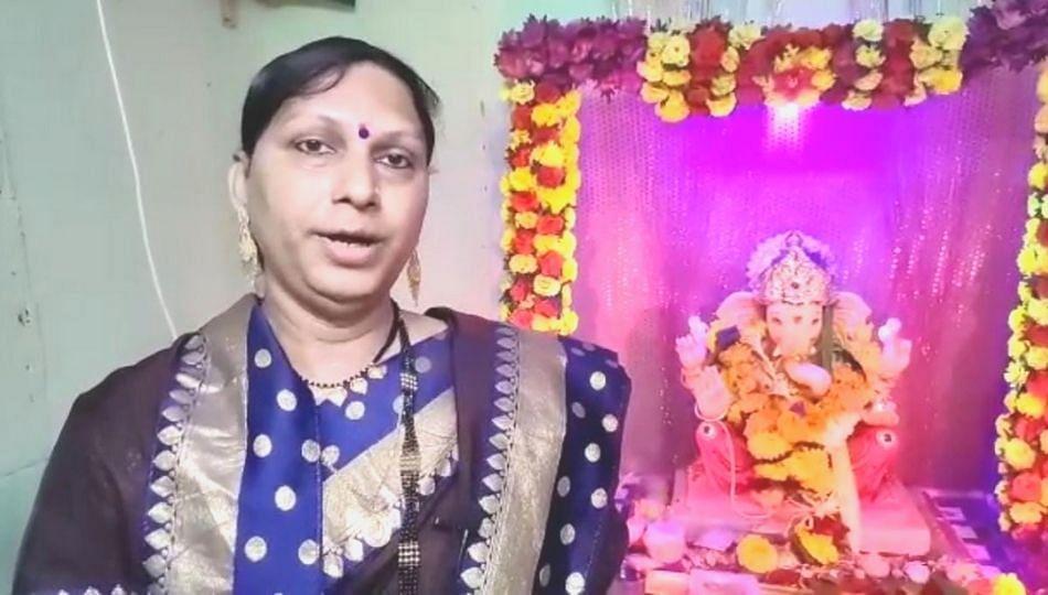 उल्हासनगर मध्ये मुस्लिम तृतीयपंथीयाने केली गणपती बाप्पाची प्रतिष्ठापना