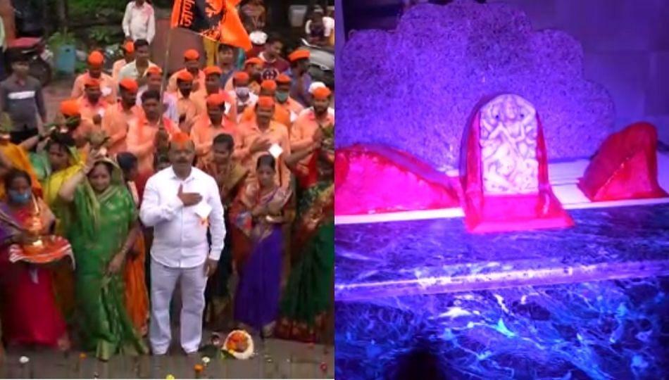 ऐतिहासिक शिरकाई देवी मंदिराची पडझड राजेशिर्के घराण्याने काढली भरून
