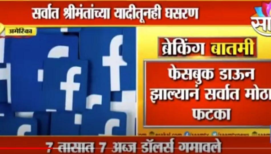 BIG NEWS | झकरबर्गच्या संपत्तीत अब्ज डाॅलर्सची घट, फेसबुकचा स्टाॅक 5 टक्क्यांनी घसरला