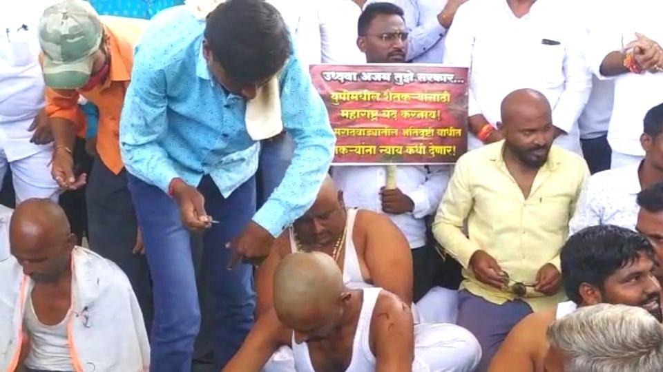 ...म्हणून राज्य सरकारच्या विरोधात, 72 शेतकऱ्यांच्या मुलांनी केले मुंडण आंदोलन !