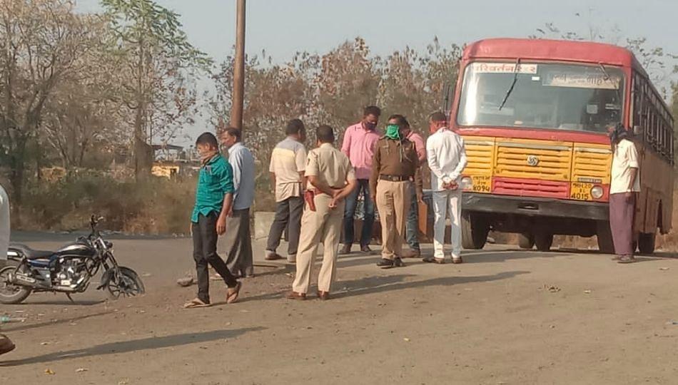 Latur: एसटी चालकाची बसमध्येच बॅगच्या बेल्टने गळफास घेऊन आत्महत्या
