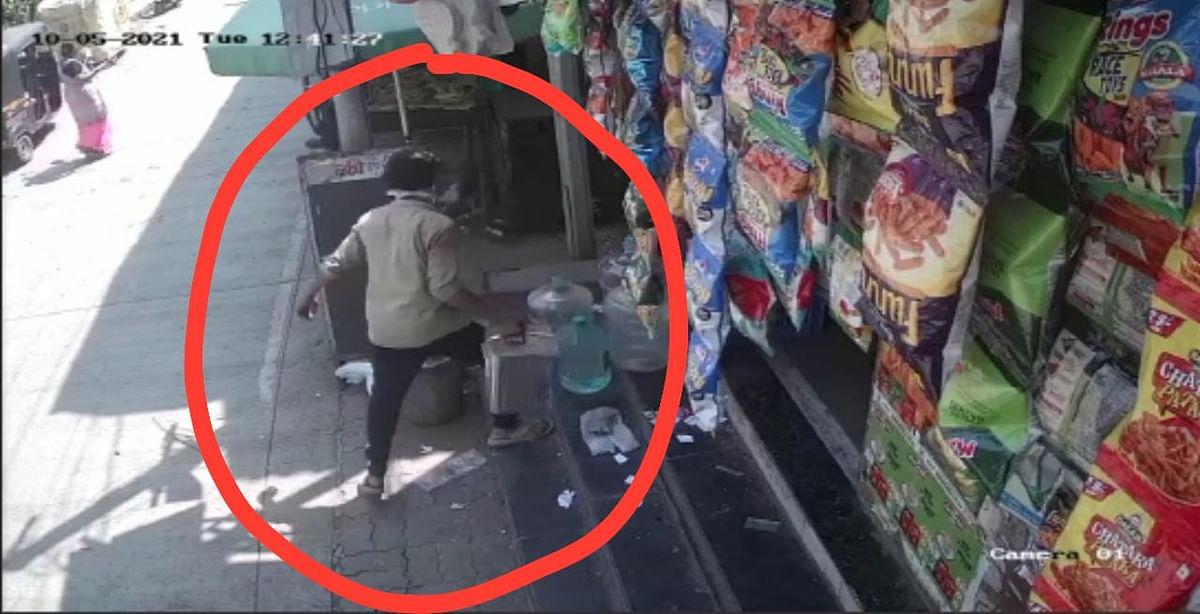 सोन्या-चांदीची नव्हे चक्क तेलाच्या डब्याची चोरी; भुरटा चोर CCTV मध्ये कैद!