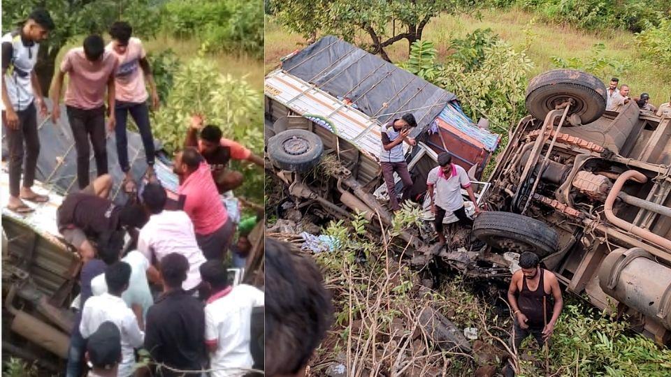 Pune: ट्रक आणि जीपचा भीषण अपघात; दोन्ही वाहने दरीत कोसळली