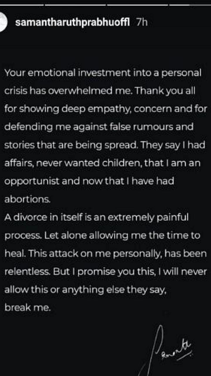 '...मला मूल नको होत, मी गर्भपात केला' अखेर समंथा म्हणाली...